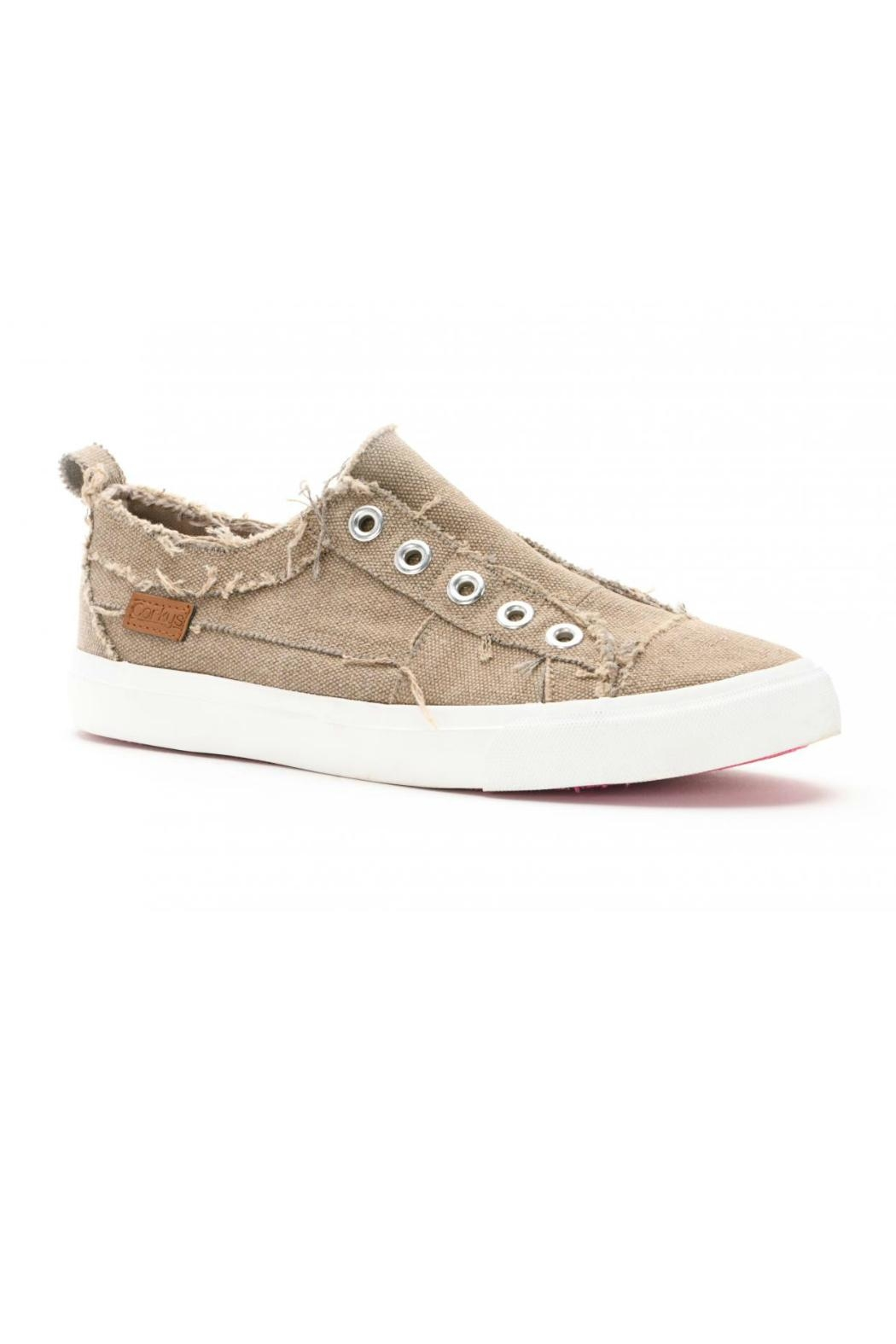 Corkys Taupe Canvas Shoe - Main Image
