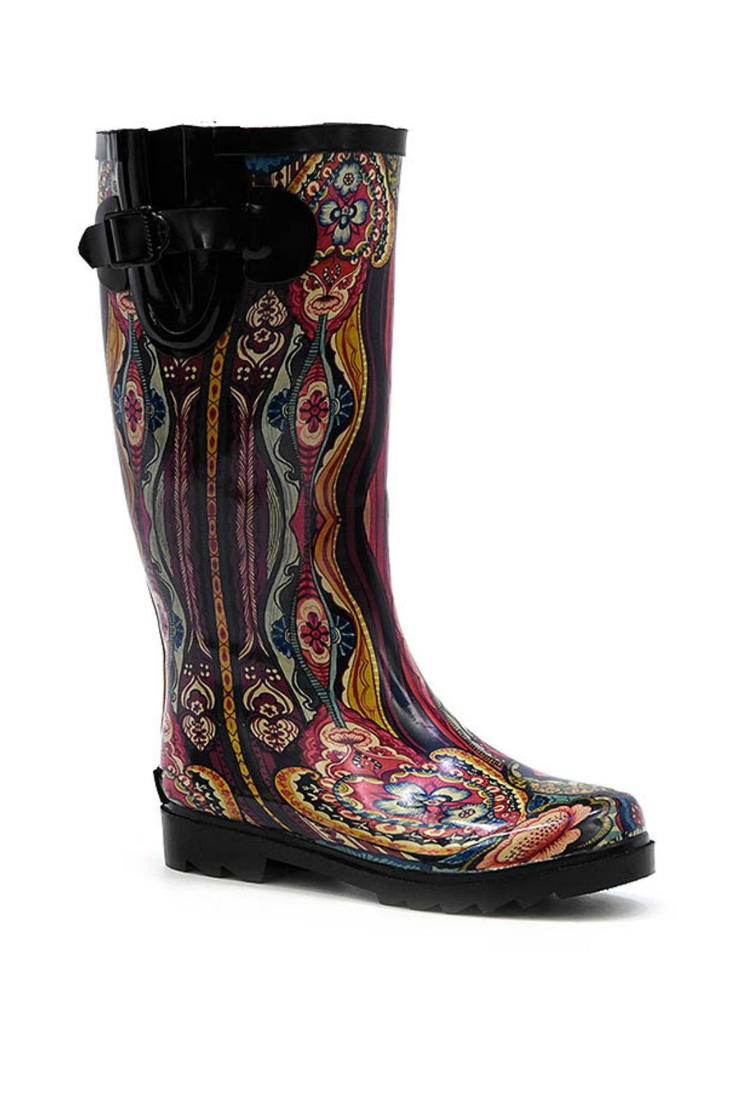 Corkys Victorian Print Rainboots - Front Cropped Image