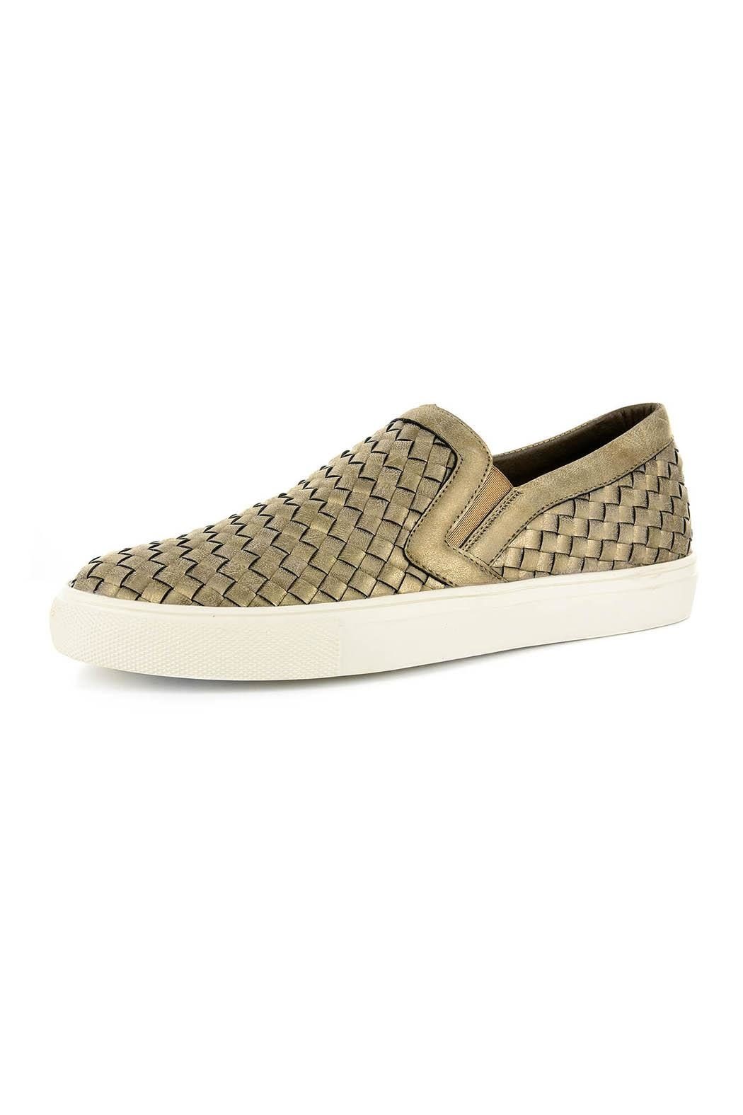 Corkys Woven Slip-On Sneaker - Front Cropped Image