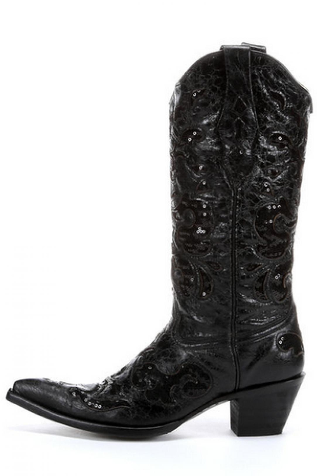 Corral Boots Black Sequence Boots - Front Cropped Image