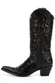Corral Boots Black Sequence Boots - Front cropped
