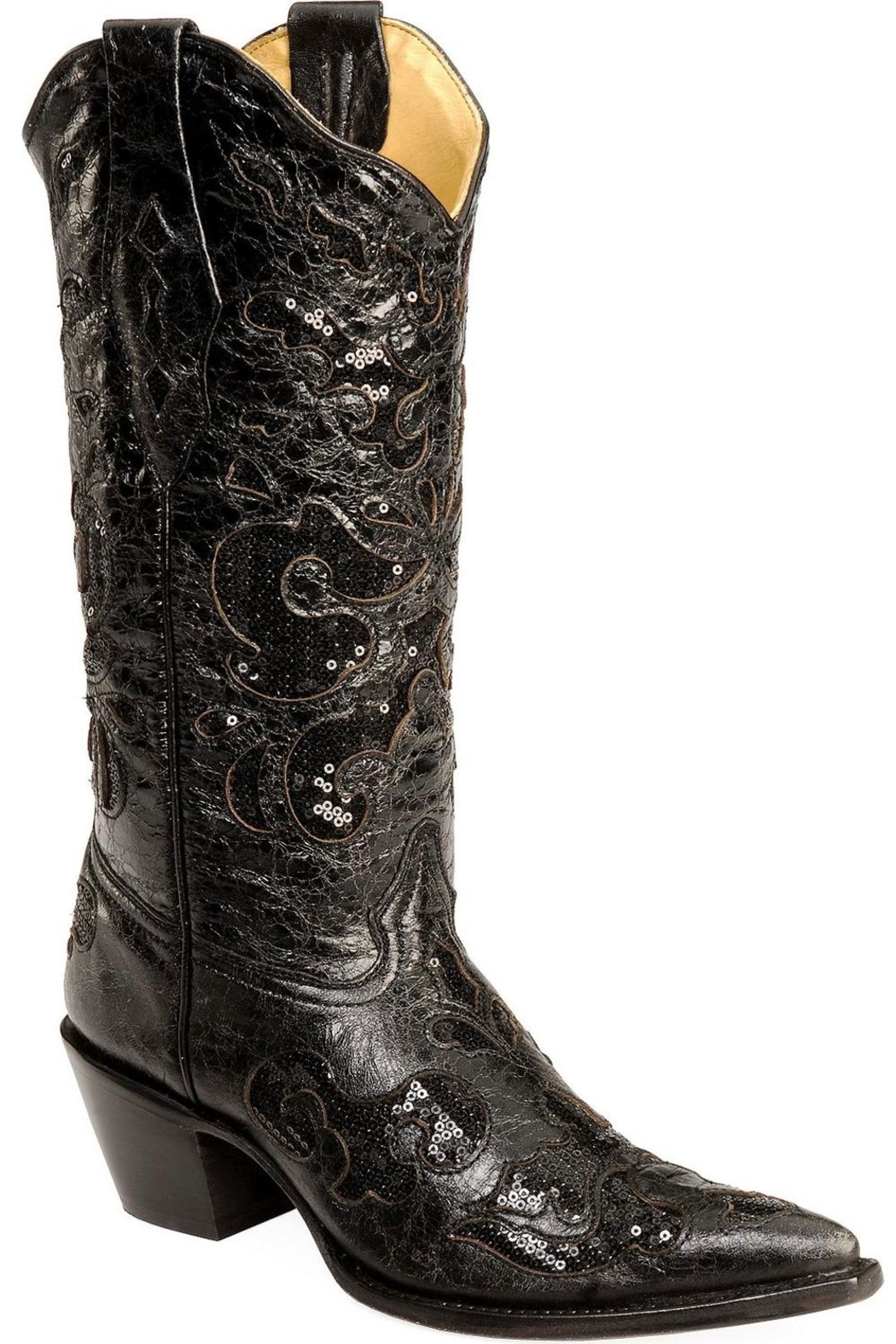 Corral Boots Black Sequence Boots - Side Cropped Image