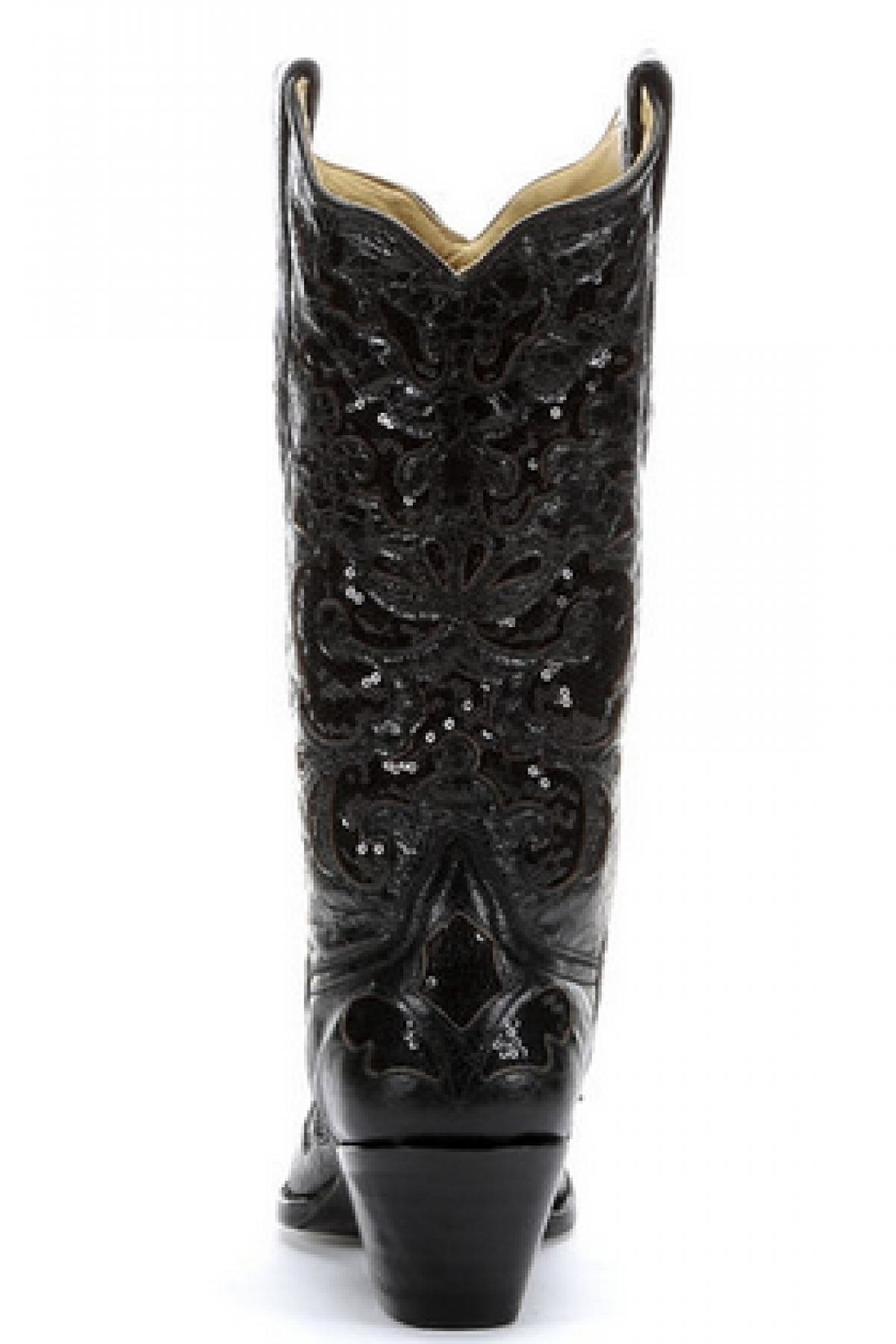 Corral Boots Black Sequence Boots - Main Image