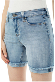 Liverpool  Corrine Fray Cut Off Shorts - Product Mini Image