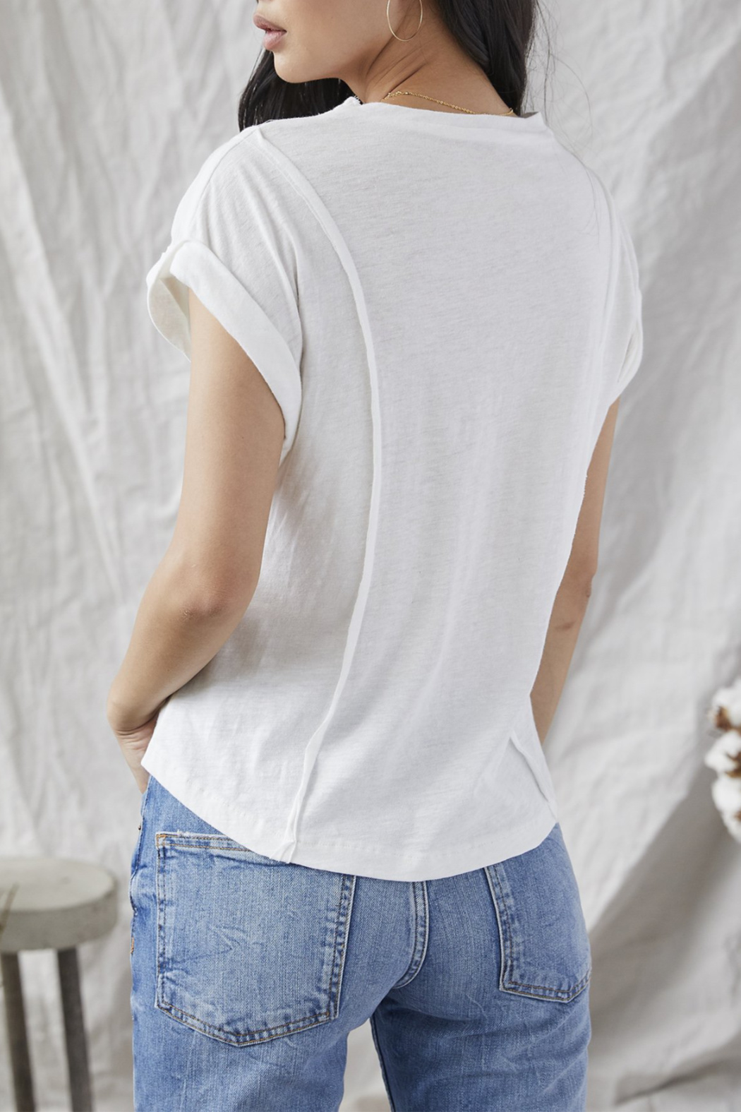 Grey State Corrine seamed tee - Front Full Image