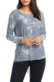 Chaser Corset Back Floral Print Dolman Top - Product Mini Image