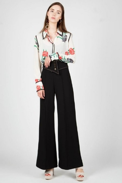 BEULAH STYLE Corset Belted Trousers - Product List Image