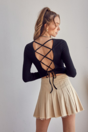 Idem Ditto  Corset Body Open Back Top - Product Mini Image