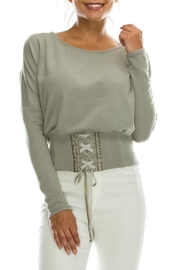 HYFVE Corset Lace-Up Sweater - Product Mini Image
