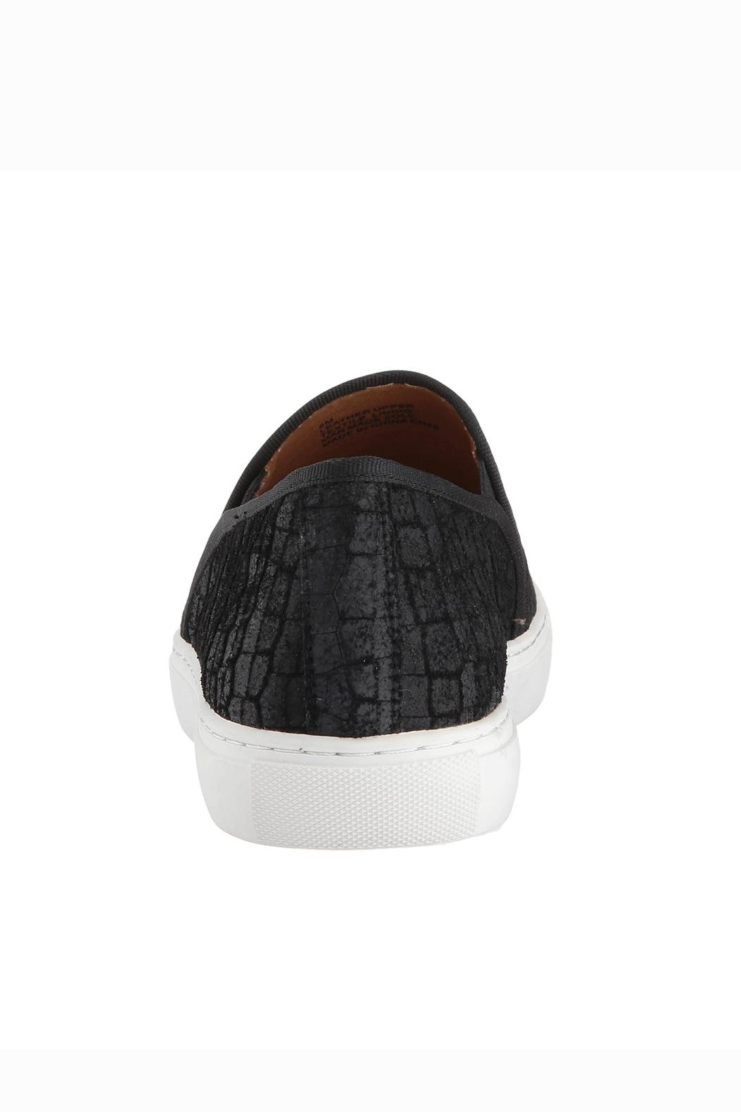 Corso Como Black Textured Slip On - Back Cropped Image