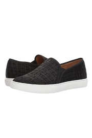 Corso Como Black Textured Slip On - Front cropped
