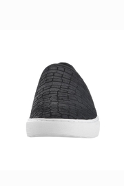 Corso Como Black Textured Slip On - Front full body