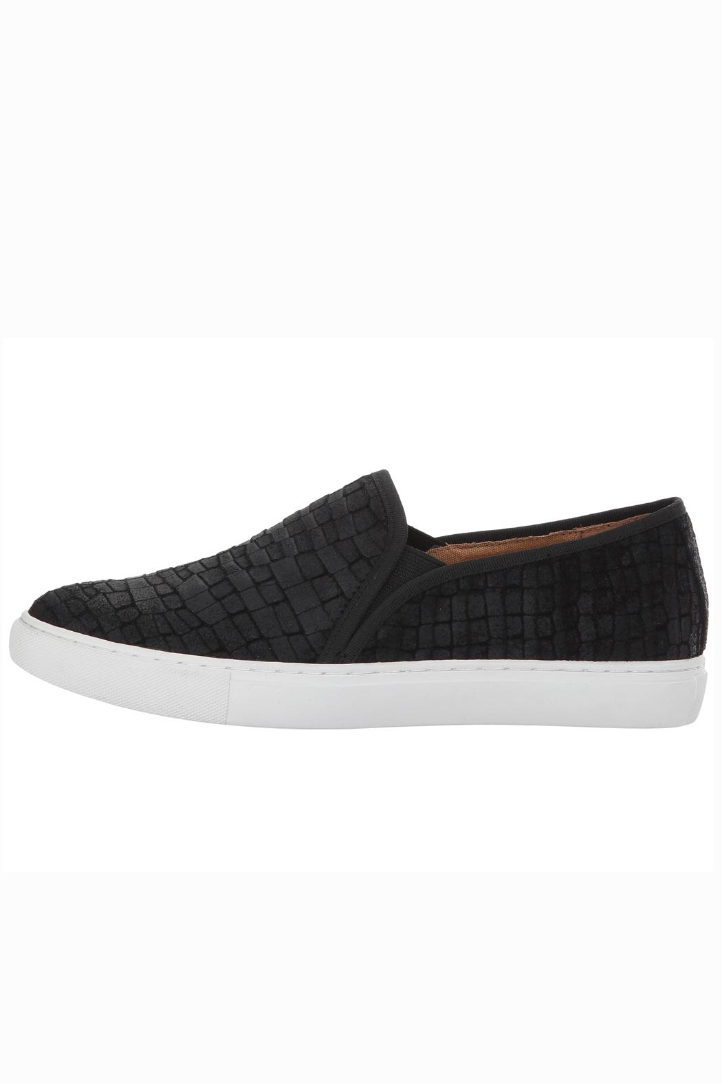 Corso Como Black Textured Slip On - Side Cropped Image
