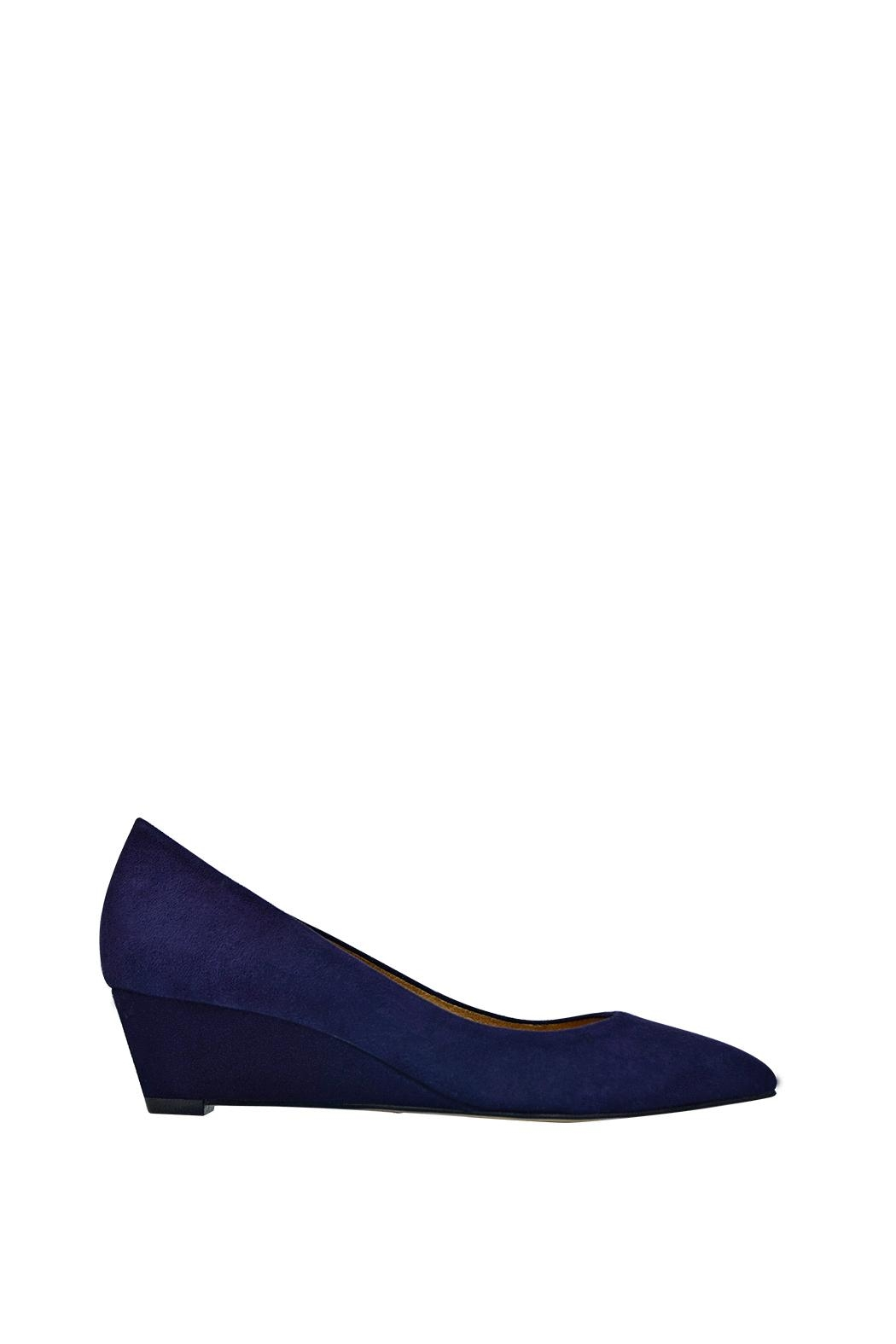 Corso Como Blue Suede Wedge - Front Full Image