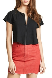 LNA Cort Zip-Up Tee - Front cropped