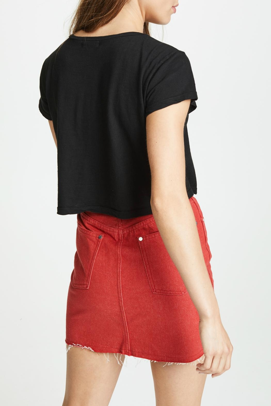LNA Cort Zip-Up Tee - Back Cropped Image