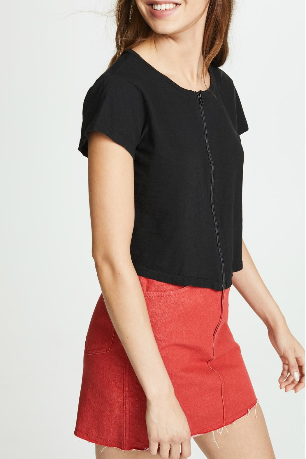 LNA Cort Zip-Up Tee - Side Cropped Image