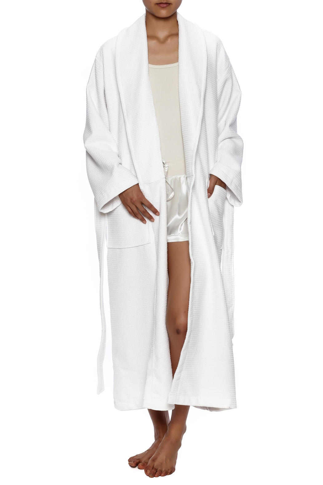 Cortex Spa Waffle Robe - Front Full Image