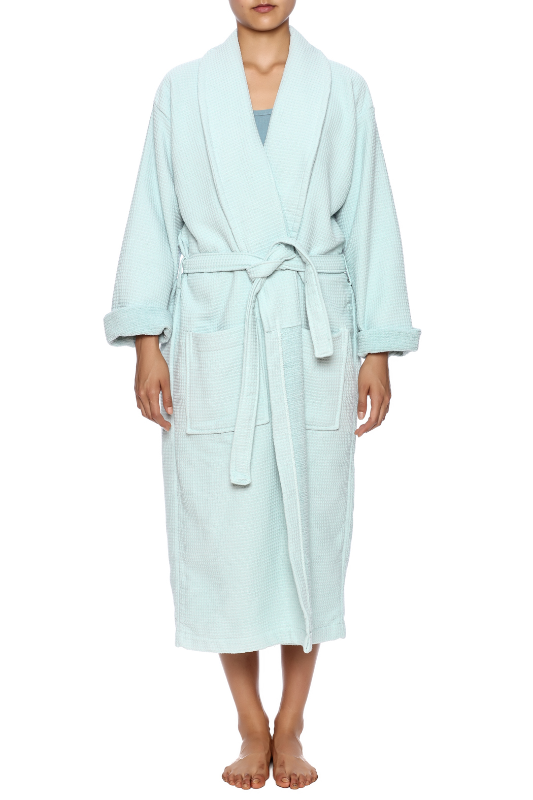 Cortex Spa Waffle Robe - Front Cropped Image