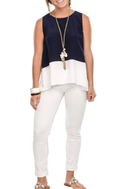 Cortland Park Color Block Tank Top - Front cropped