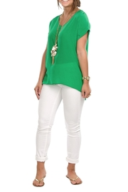 Cortland Park V Neck Blouse - Product Mini Image