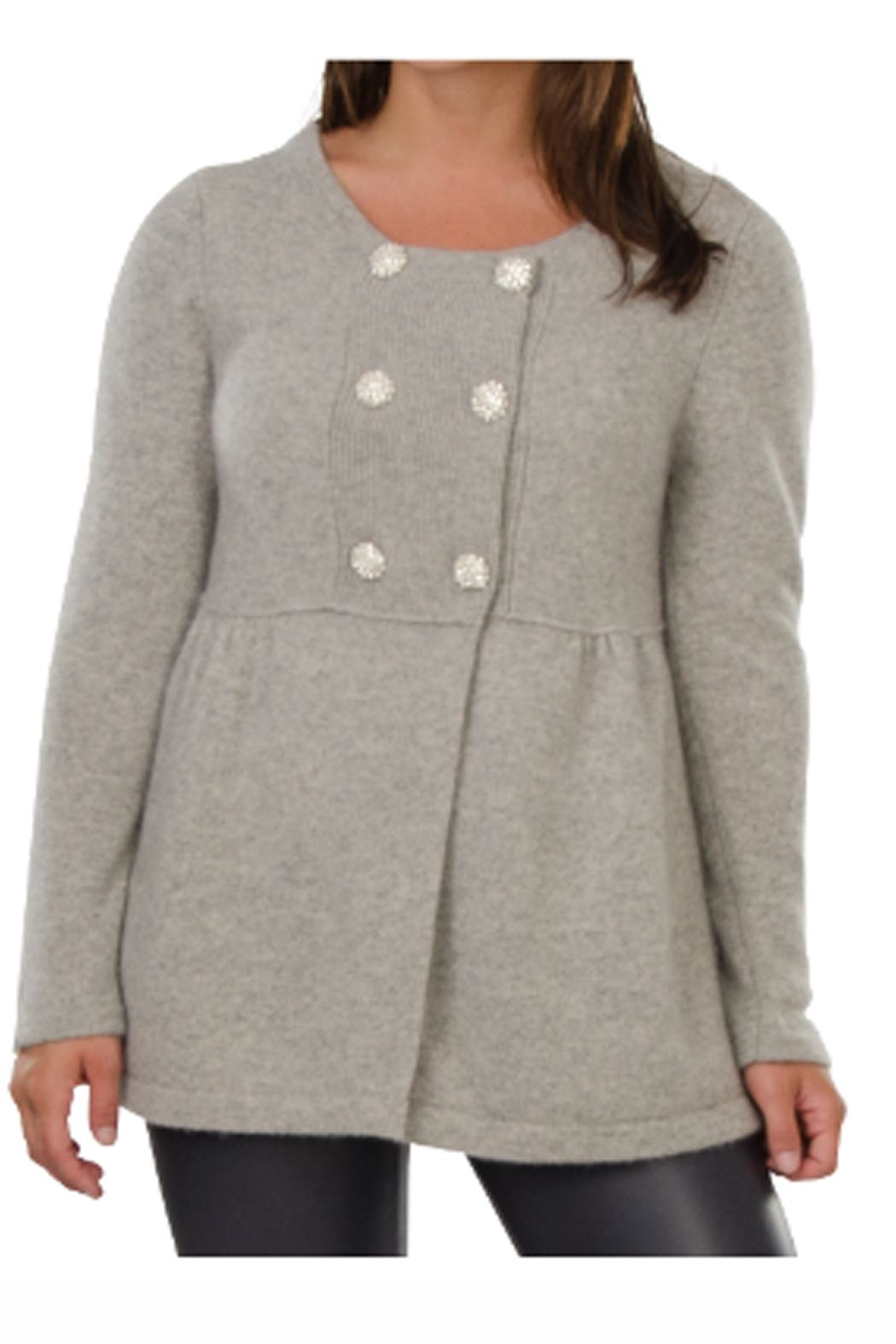 Cortland Park Cashmere Cashmere Peacoat - Front Cropped Image