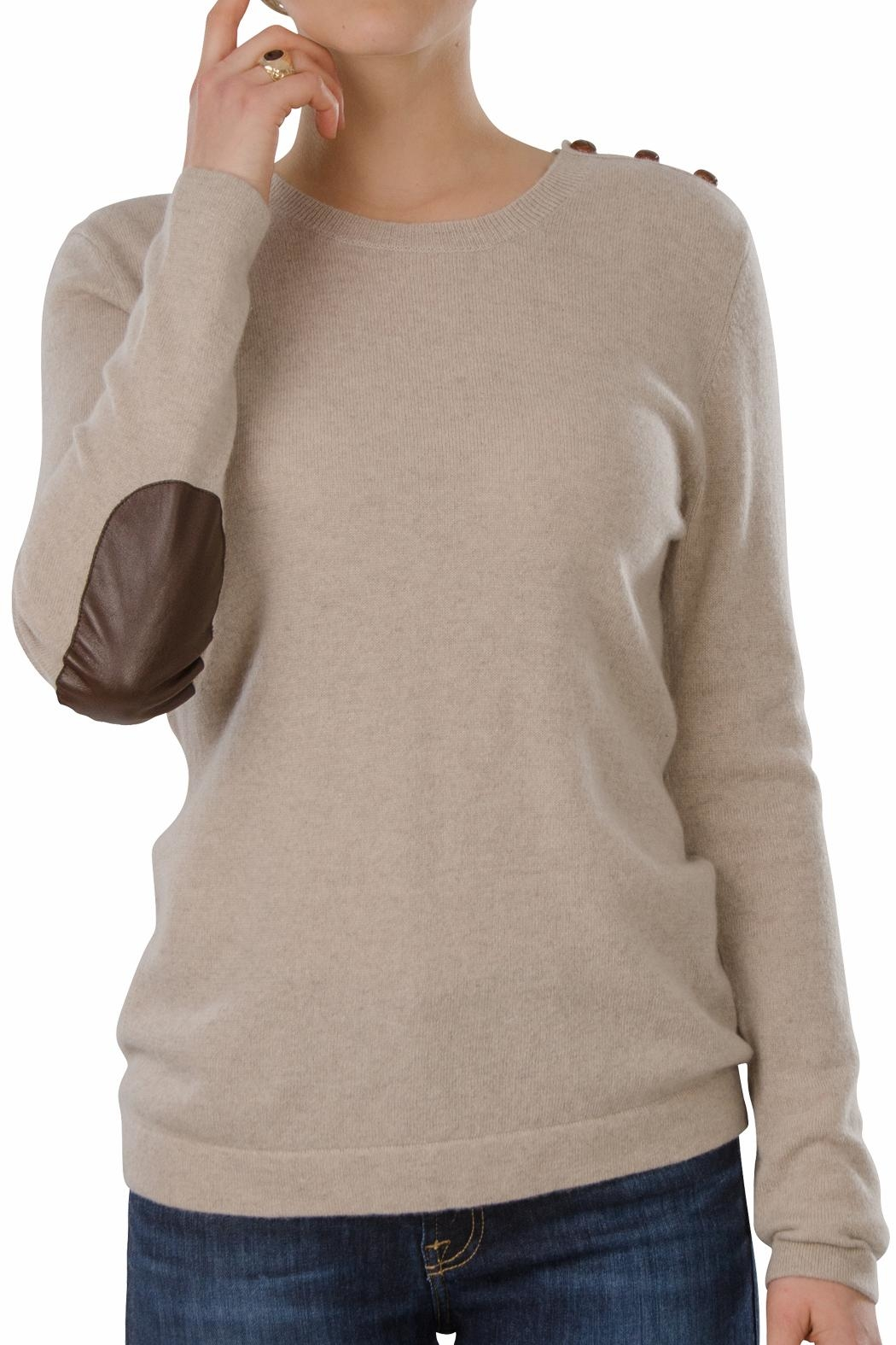 Cortland Park Cashmere Harvard Cashmere Sweater - Front Cropped Image
