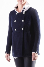 Cortland Park Cashmere Peacoat Cashmere Sweater - Front cropped