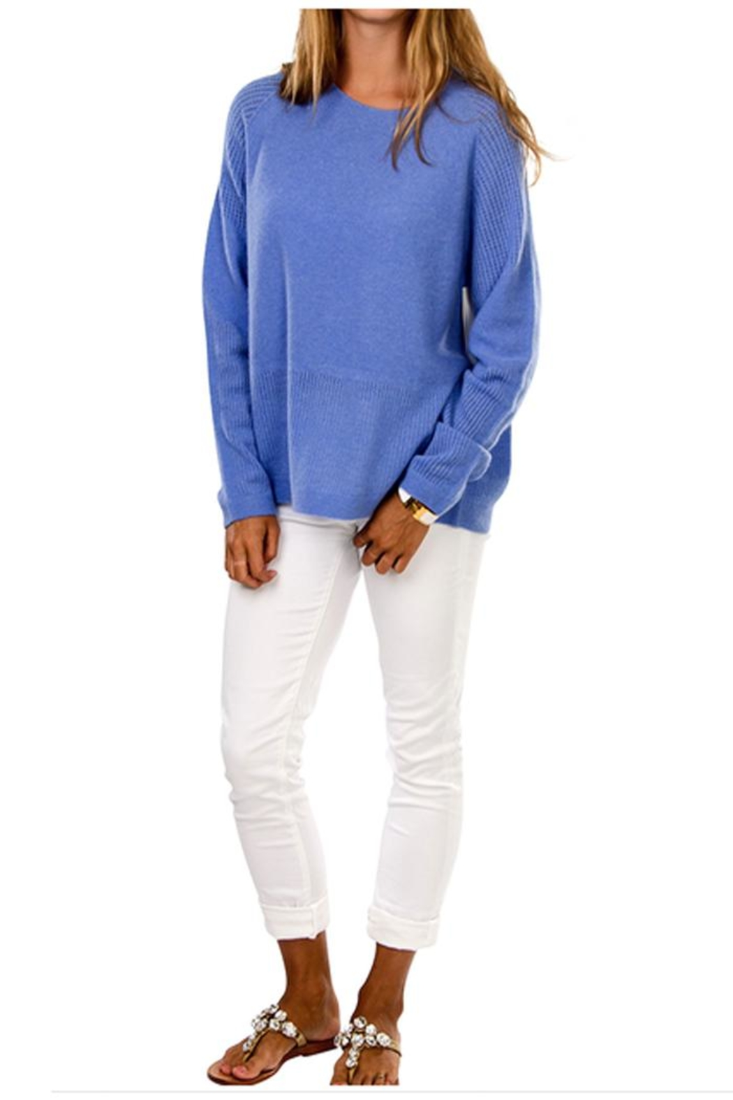 Cortland Park Cashmere Riley Cashmere Sweater - Front Cropped Image