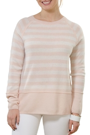 Cortland Park Cashmere Stripe Crew Sweater - Product Mini Image