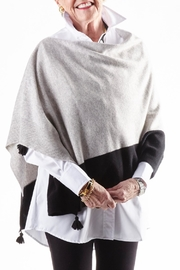 Cortland Park Cashmere Tassel Poncho - Front cropped