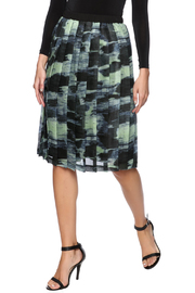 Cory Pleated Watercolor Skirt - Product Mini Image