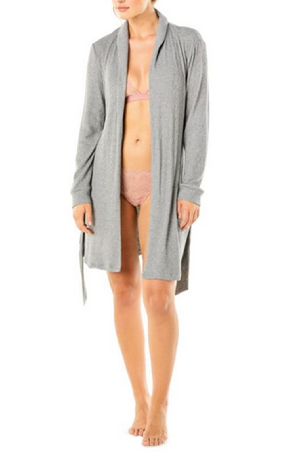 Cosabella Cozy Ribbed Robe - Front Full Image