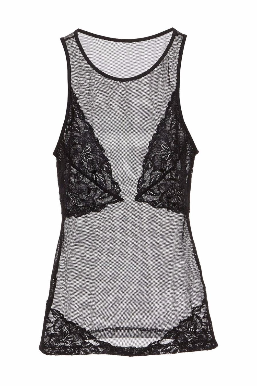 Cosabella Illusion Mesh Camisole - Side Cropped Image