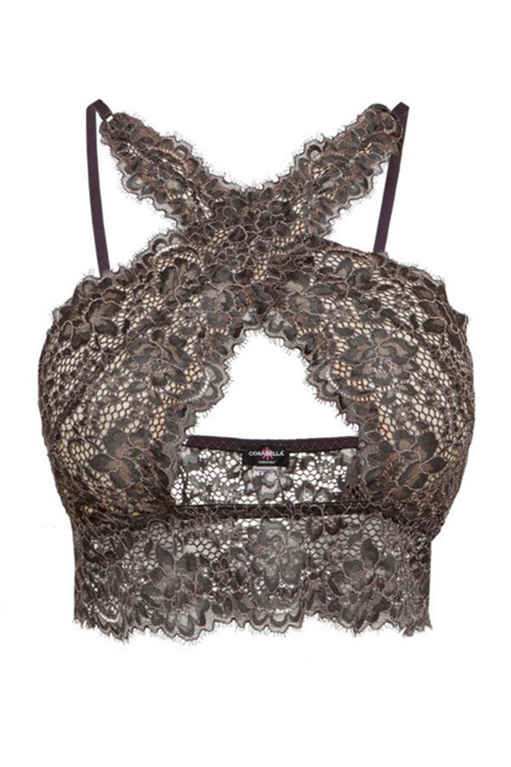 Cosabella Lace Criss-Cross Bralette - Side Cropped Image