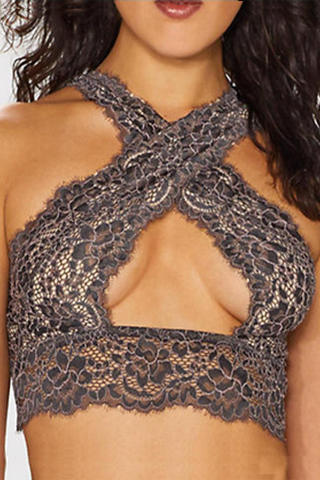 Cosabella Lace Criss-Cross Bralette - Front Cropped Image
