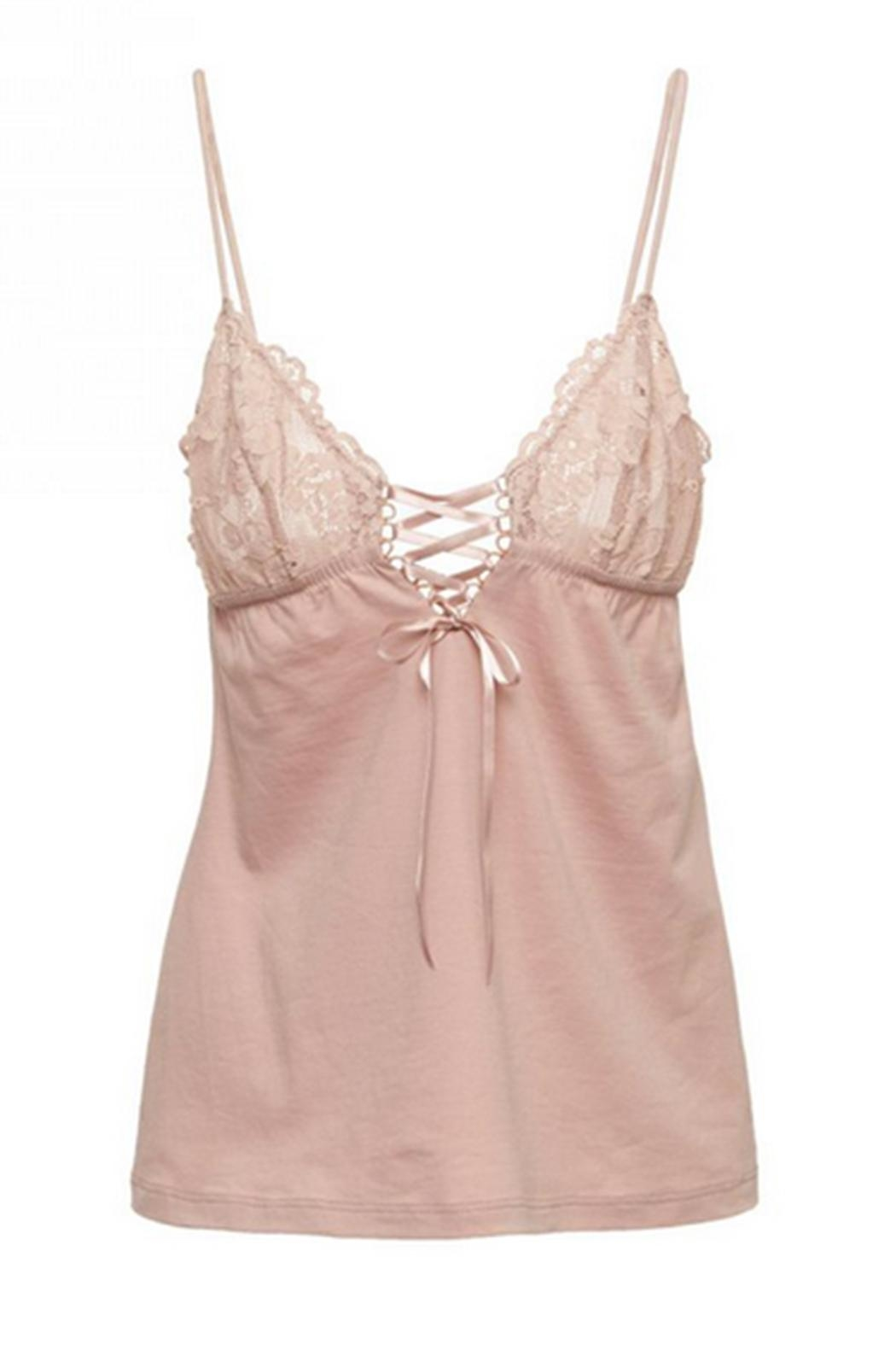 Cosabella Lace-Up Cami & Short - Side Cropped Image