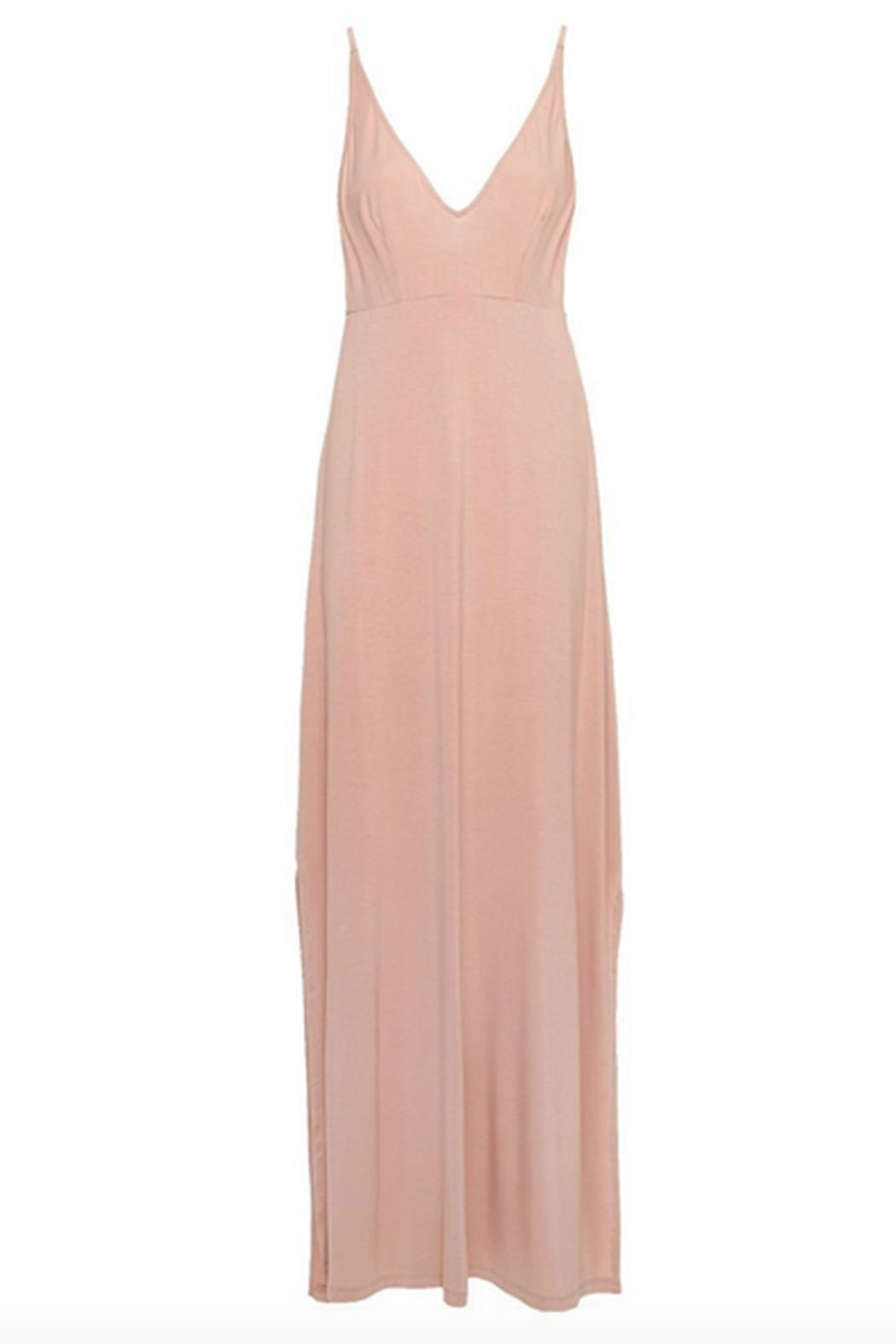 Cosabella Plunge-Neck Maxi Dress - Front Cropped Image