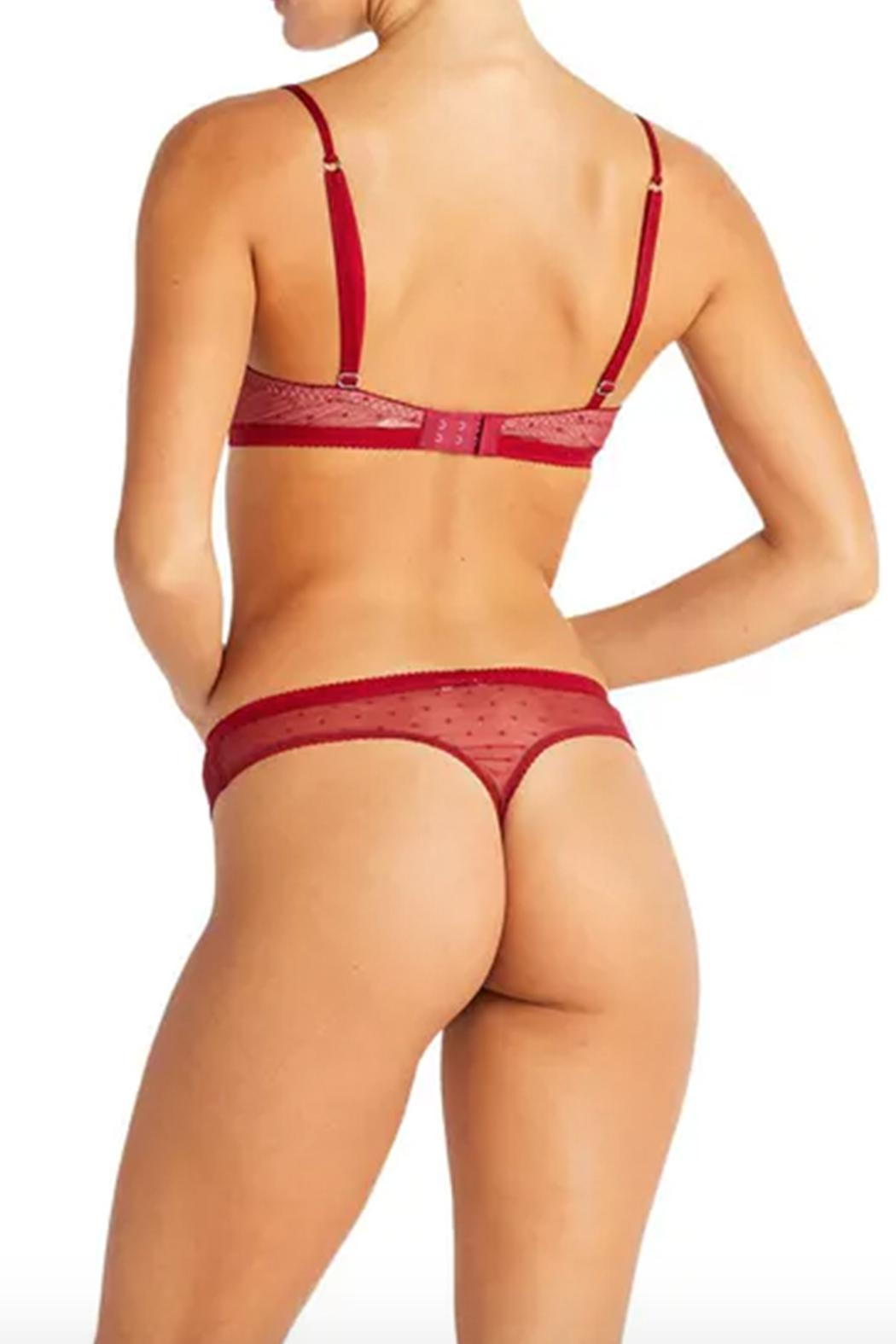 Cosabella Red Lace Thong - Side Cropped Image