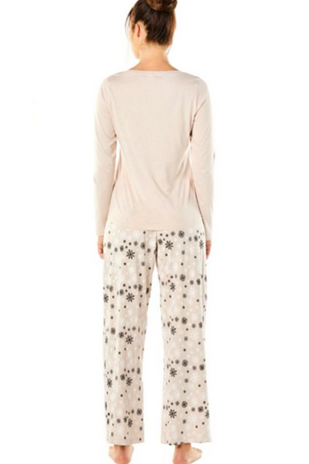Cosabella Snowflake Cotton Pj-Set - Front Full Image