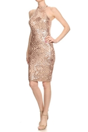 CALS Rose Gold Dress - Front cropped