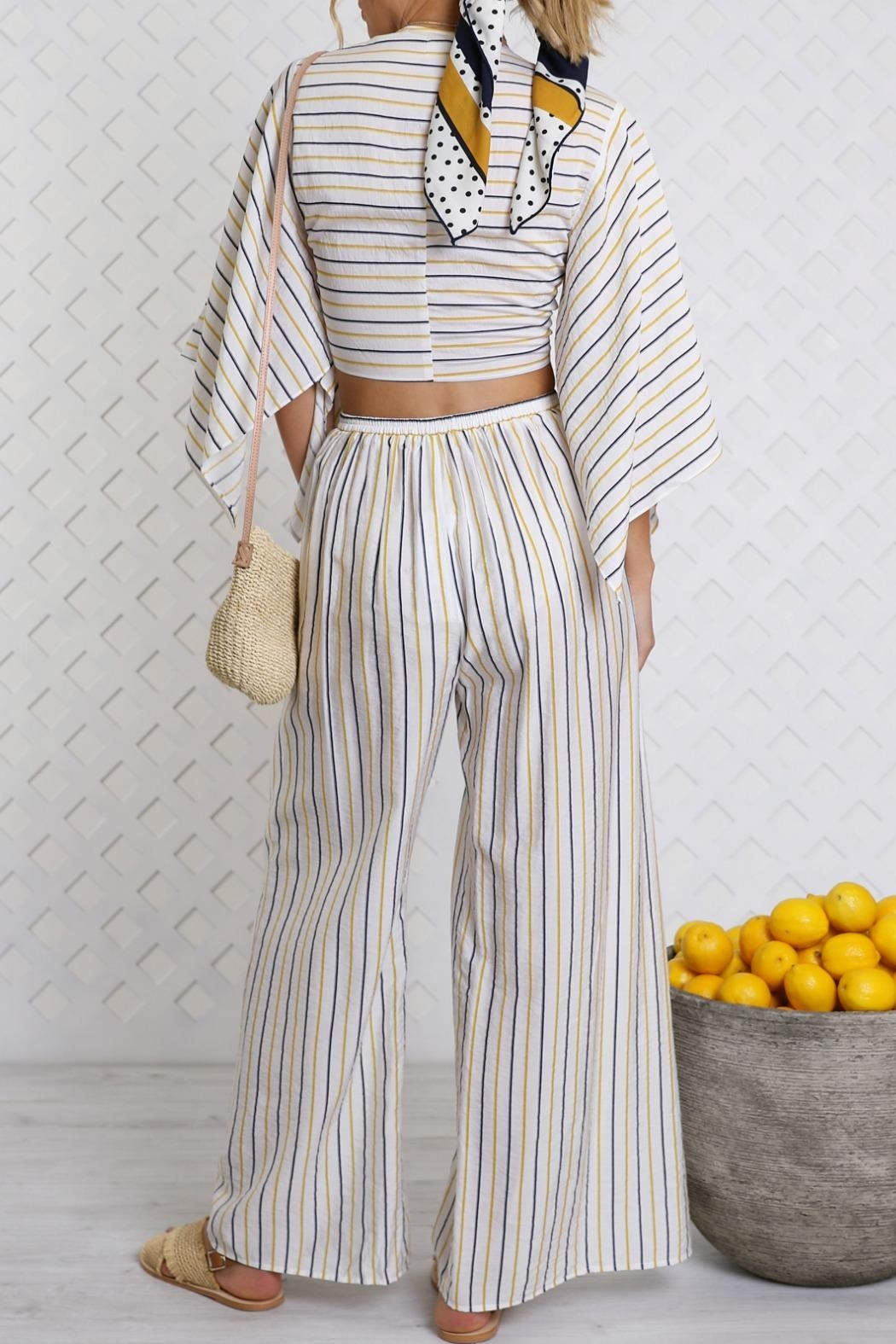 Lost in Lunar Cosette Wrap Top - Side Cropped Image