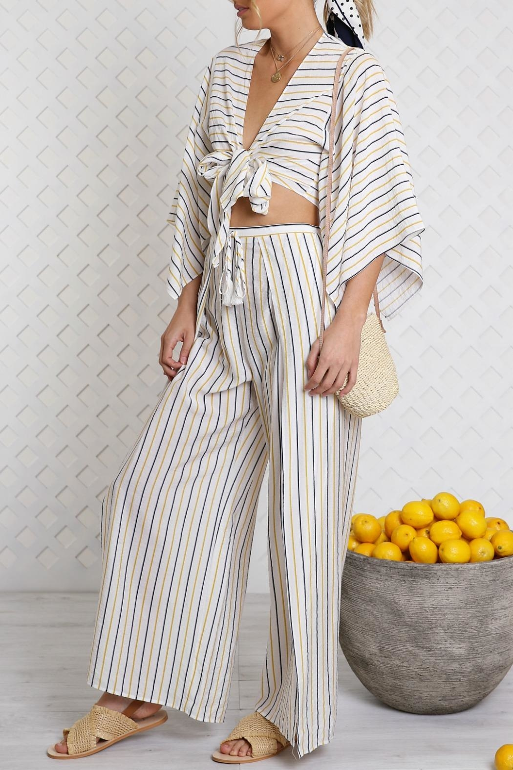 Lost in Lunar Cosette Wrap Top - Front Full Image