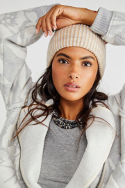 Free People  Cosmic Spacedye Ribbed Beanie - Front cropped
