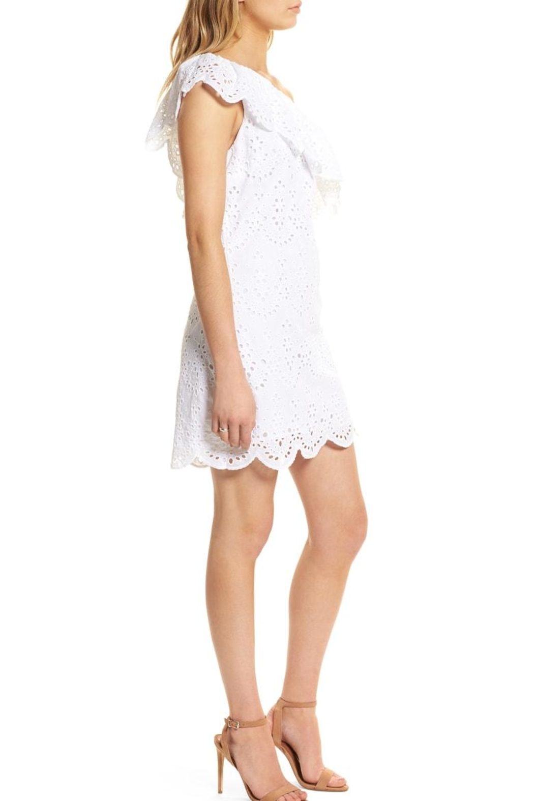 Cupcakes and Cashmere Cosmo Eyelet Dress - Side Cropped Image
