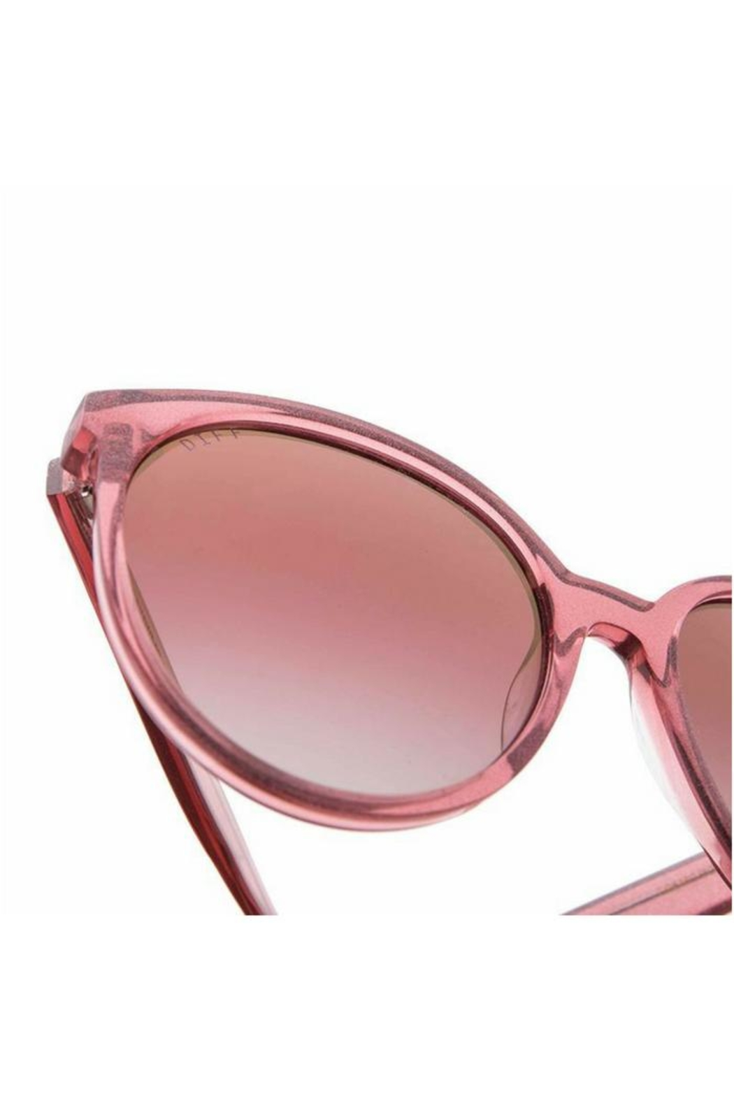 Diff Eyewear Cosmo Glitter Sunglasses - Side Cropped Image