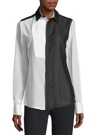 Costume National Bicolor Silk Shirt - Product Mini Image