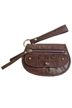 Shoptiques Product: Distressed Purple Leather Wallet