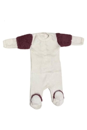 Coton PomPom  Fluppy Arms Peruvian Cotton Velour Footie For Newborns - Product Mini Image