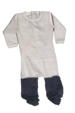 Coton PomPom  Peruvian Cotton Fluppy Fur Boots Footie for Newborn - Alternate List Image